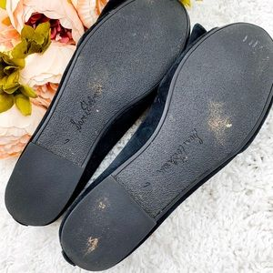 Sam Edelman Shoes - SAM EDELMAN Black Velet Ballet Flat with Bow   7